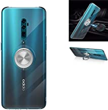 OPPO Reno 10X Zoom case,Clear Silicone TPU,360° Ring Kickstand Stand,Shockproof Protection,Thin Transparent Cover,For OPPO Reno 10X Zoom (Transparent)