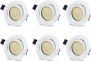 Spots LED Interieur Blanc Plafonnier Encastrable Orientable Rond 3.5W Ultraslim Blanc Chaud 3000K 400LM 230V IP20 pour Pla...