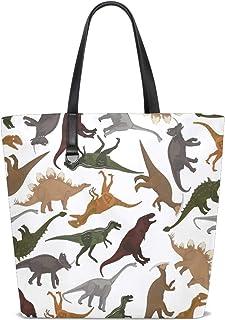 FANTAZIO Schultertasche für Damen, Dinosaurier-Muster, Tragetasche