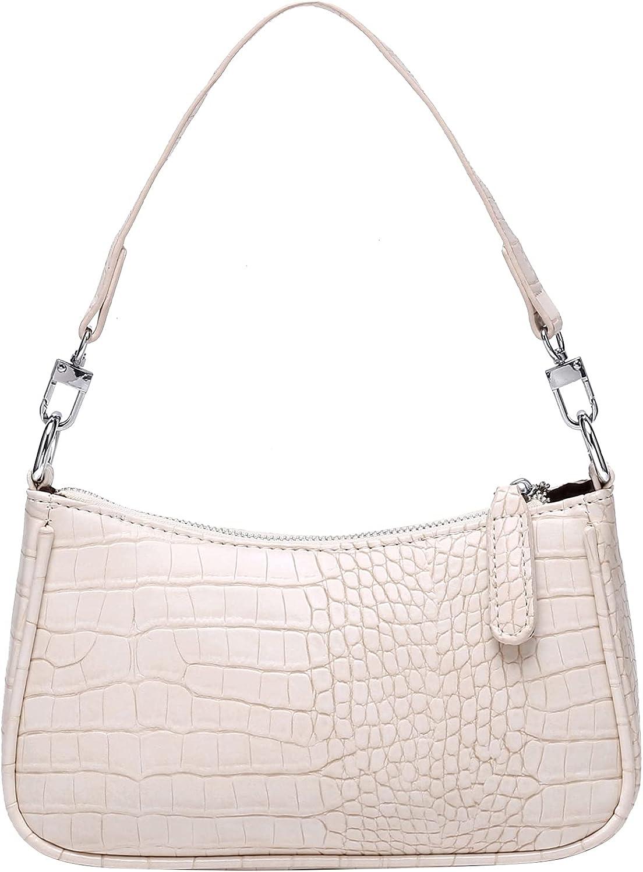Women Retro Small Shoulder Bags with 2 Removable Straps Clutch Purse for Ladies Purse Handbag Zipper Closure
