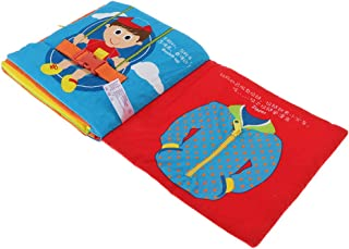 Baosity Baby My Quiet Book Cloth Activity Learning to Dress Cloth,Tie, Zip & Button