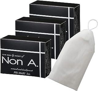 Non A. (ノンエー) 薬用 ニキビ 洗顔石鹸 [ 3個セット + 泡立てネット付き ] 無添加 ニキビ 石鹸 ニキビ洗顔料 non a (プライマリー)