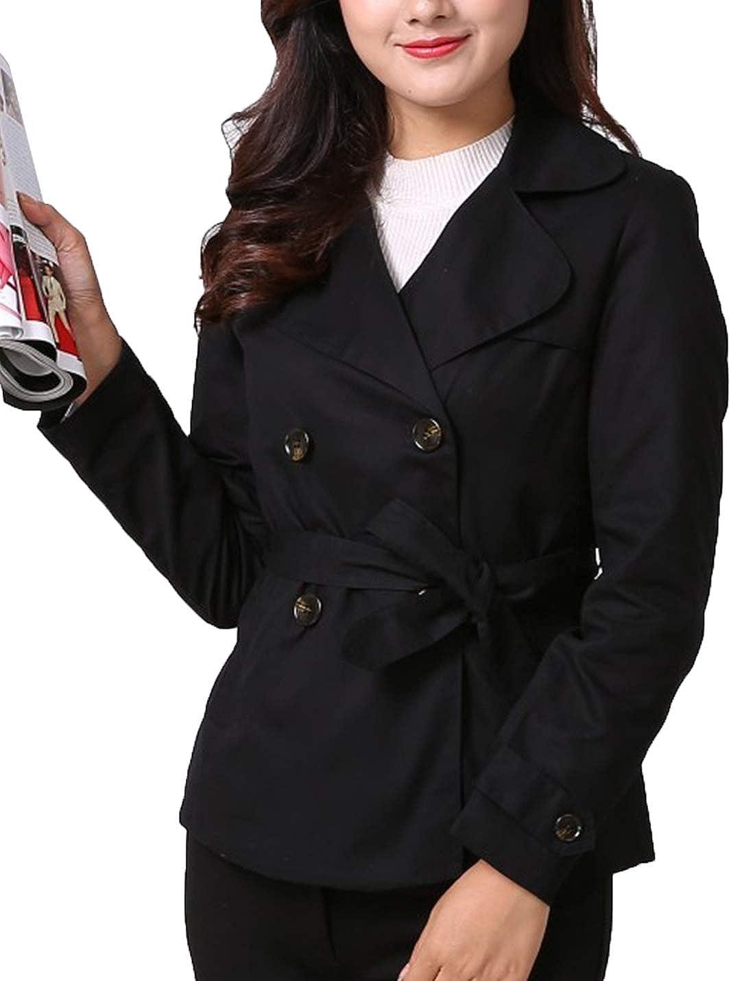 Lentta Womens Cotton Fashion British Fit Sh Slim Max price 61% OFF Double-Breasted