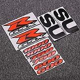 Pegatinas coche moto Motocicleta kit del carenado del cuerpo lateral pegatinas Placa for Suzuki GSXR 1000 750 600 K1 K2 K3 K4 K5 K6 K7 K8 K9 K10 Calcomanías Emblema (Color : GSXR1000)