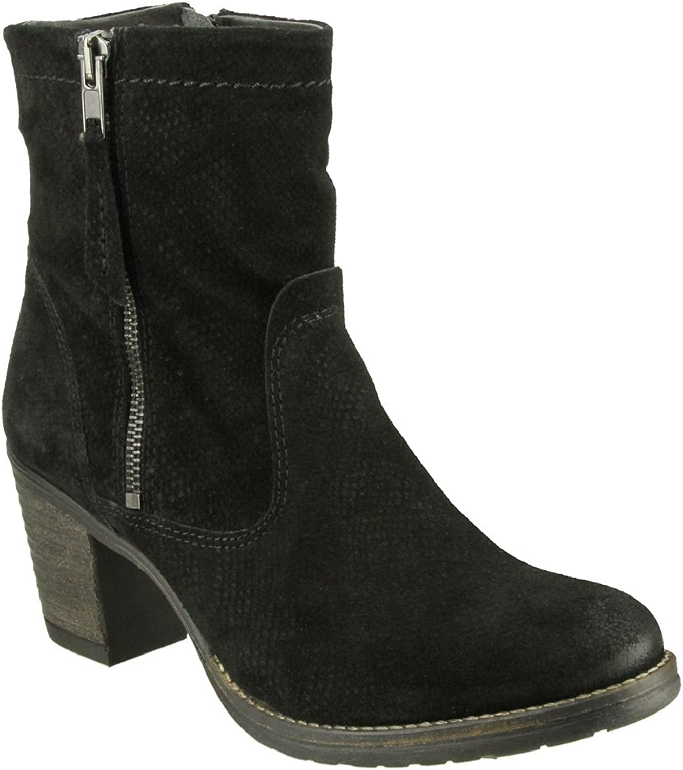 Taos Women's Standout Black Embossed Suede Boot 41 M EU  10-10.5 B(M) US