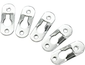 Timoo 20 PCS Keyhole Hangers Heavy Duty Keyhole Bracket for Cross Stitch, Painting, Photo Frame, Cabinets