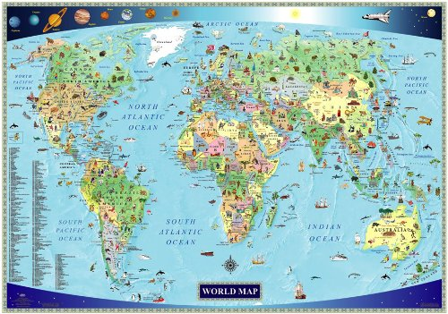 Product Image of the Illustrated Map Of The World