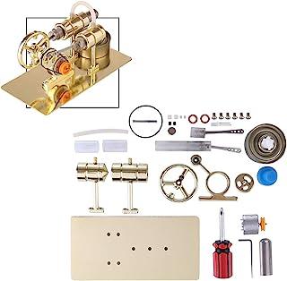 Myste Moteur Stirling en Métal Modèle Kit, Moteur Stirling avec Generateur DIY Assemblée Stirling Engine Modèle Kit, Jouet...