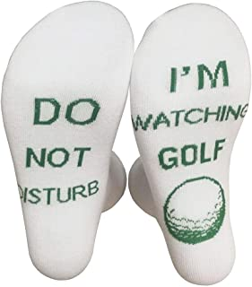 "GREEN&RARE Calcetines unisex divertidos, con texto en inglés ""Do Not Disturb I Am Watching Rugby Football Golf, calcetines..."