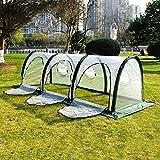 WMQ Invernadero de túnel portátil para jardín 2 × 1 × 1m / 6.5 × 3.2 × 3.2ft, con Puerta Grande con Cremallera para Plantas de Interior o Exterior