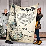 in My Life The Beatles Fleece Blanket in My Life Song The Beatles Fleece Blanket Valentine's Day Gift,, Birthday Gift, Anniversary Fleece Blanket (30x40 Inches)