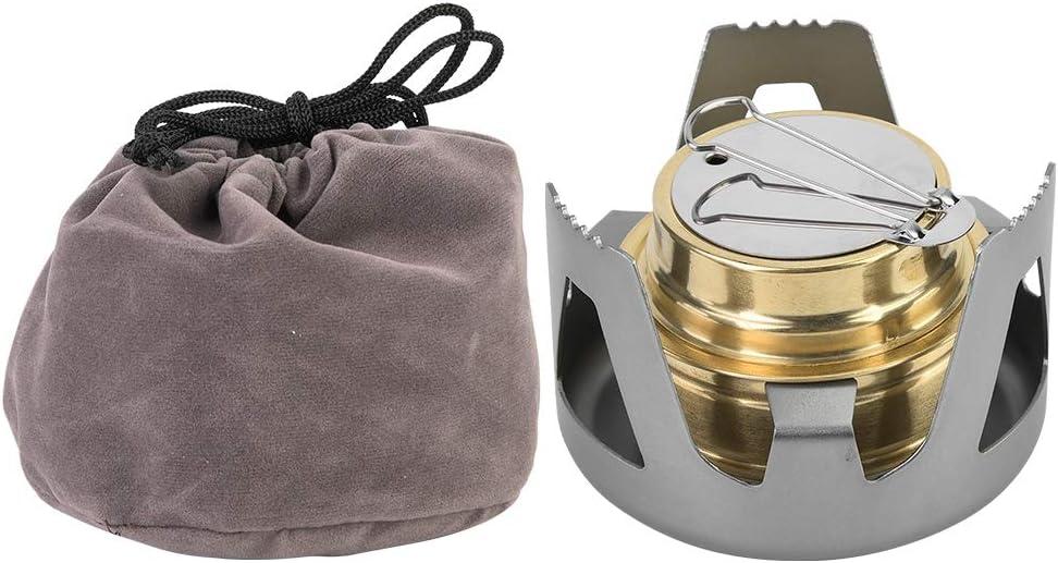 VGEBY1 Estufa de Alcohol Mini Estufa de Combustible con Quemador de Esp/íritu de Cocci/ón con Soporte Bolsa para Acampar Senderismo BBQ Picnic Cocina