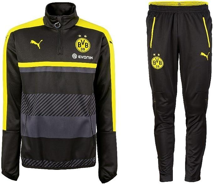 Puma, tuta da allenamento del BVB Borussia Dortmund della stagione 2016/2017, con mezza zip