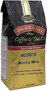 Door County Coffee, Mocha Mint, Dark Chocolate & Mint Flavored Coffee, Medium Roast, Ground Coffee, 10 oz Bag