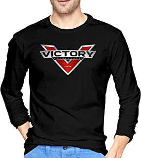 Victory Motorcycles Polaris Men Round Neck Long Sleeve Pullover T-Shirt
