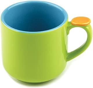 Omniware 1100455 Hemisphere Mug with Thumb Rest, Green/Aqua