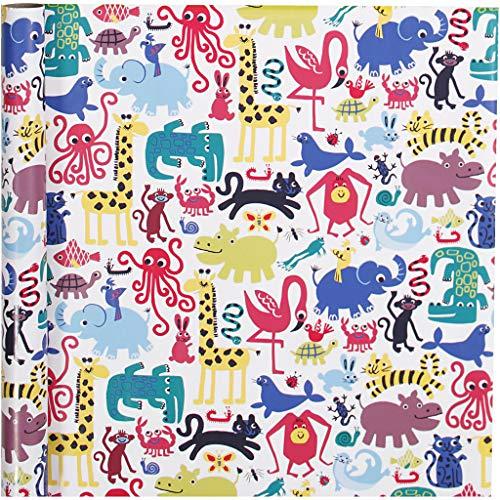 Inpakpapier, b: 70 cm, 80 gr, zoo, 4m