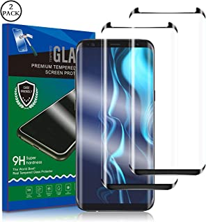 Galaxy S8 Plus Screen Protector, RUAN [2 Pack] Tempered Glass Film,Case Friendly,HD Clarity,Anti Scratch, Curved Edge, Touch Screen Tempered Glass Screen Protector for Samsung Galaxy S8 Plus