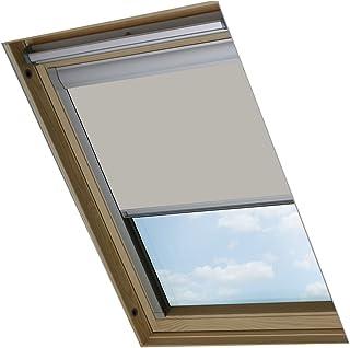 Bloc Skylight Blind - Bloque Estor para Ventanas de Techo Velux de CO2, Color Piedra