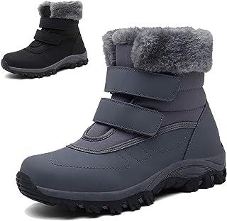 Botas de Nieve Mujer Botines de Invierno Calientes Botas Pelo Impermeables Zapatos Al Aire Libre