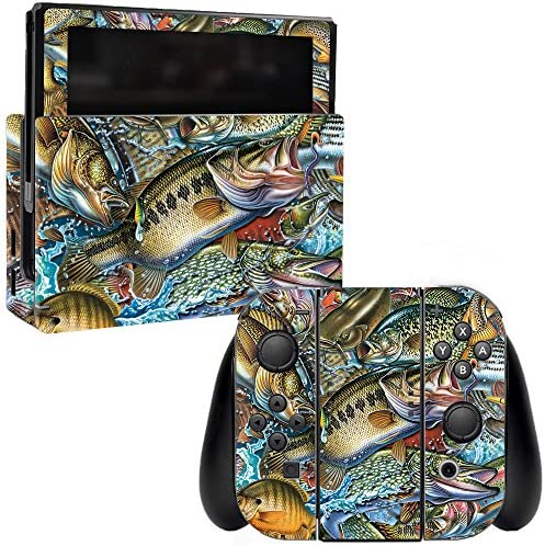 MightySkins Skin Compatible with Nintendo Switch Action Fish Puzzle Protective Durable and Unique product image