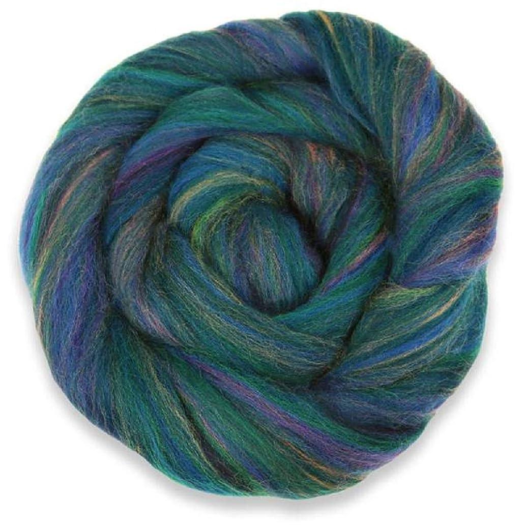 4 oz Paradise Fibers Multi-Colored Merino Wool Roving - English Garden