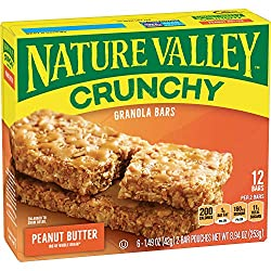 Nature Valley Granola Bars, Crunchy Peanut Butter, 8.94 oz