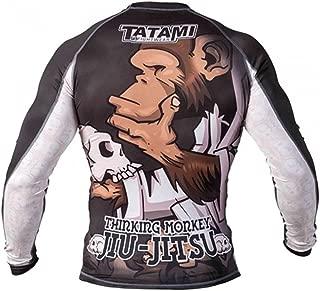 Tatami Fightwear Men's Thinker Monkey Long Sleeve Rash Guard White