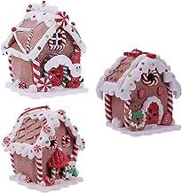 TOYANDONA 3Pcs Christmas Led House Xmas Tree Hanging Ornaments Decorations Resin Hanging Embellishments for Christmas Tree...