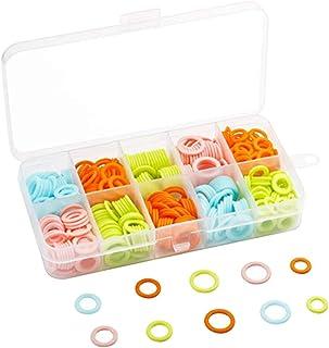 HEALLILY Anneaux de point de bricolage tricoté marqueur de point de tricotage compteur de points de tricotage en plastique...