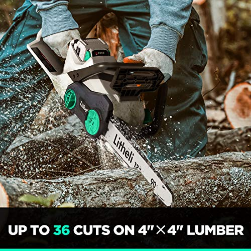 Litheli Battery Powered Chainsaw for Trees