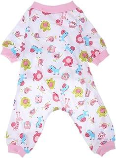 Pijama de algodón para perros, de Everpert, con estampado, cálido, prendas para mascotas
