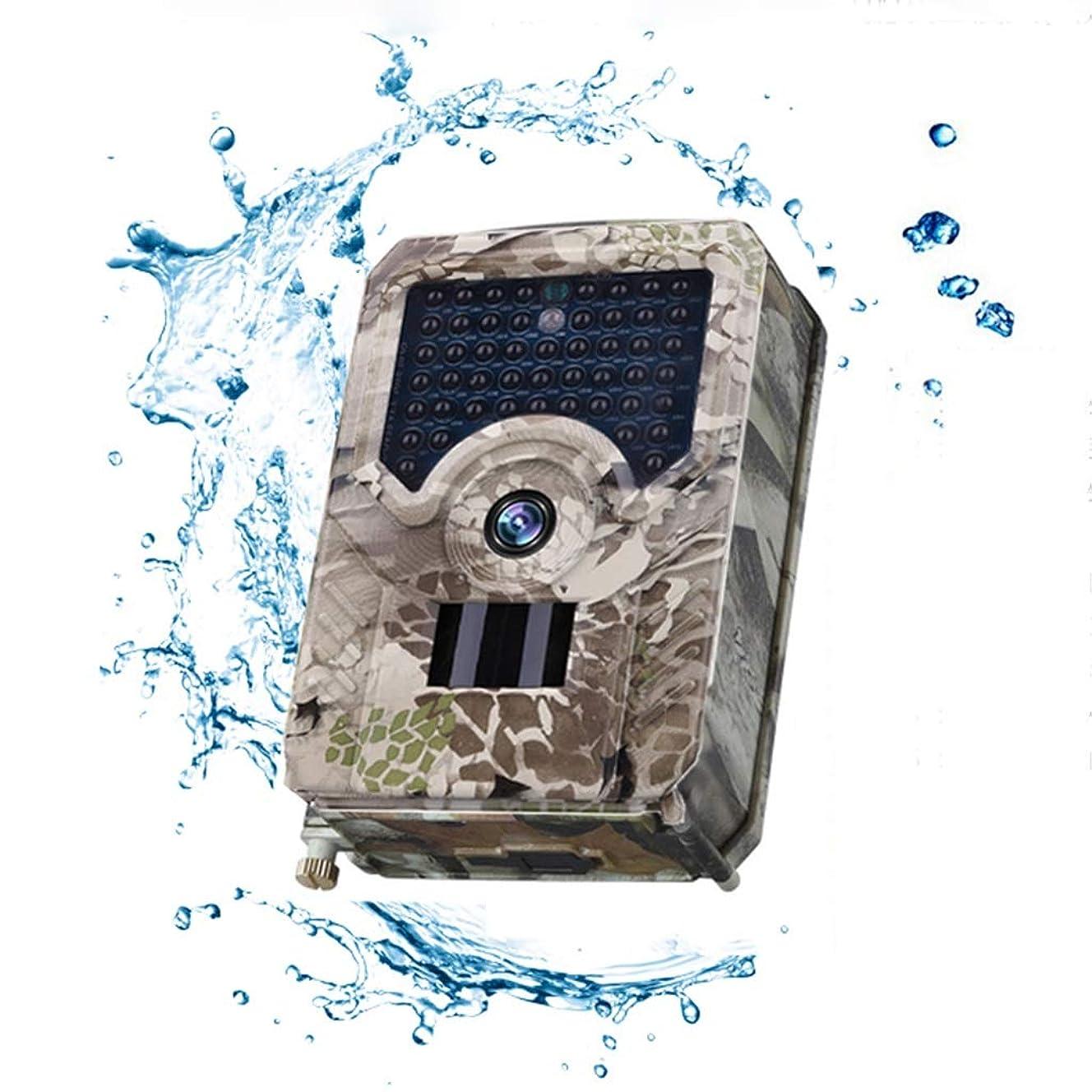 才能援助びっくりした屋外狩猟用カメラ、フィールドアンチシーフHDカメラ監視カメラ、120°広角レンズ、49 IR LED赤外線ナイトビジョンランプ、18650充電式バッテリー (Size : +16G card)