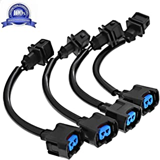 OBD1 To OBD2 Adapter Fuel Injector Conversion Harness Fits Honda Acura 1987-2001 Jumper B-D (Pack of 4)