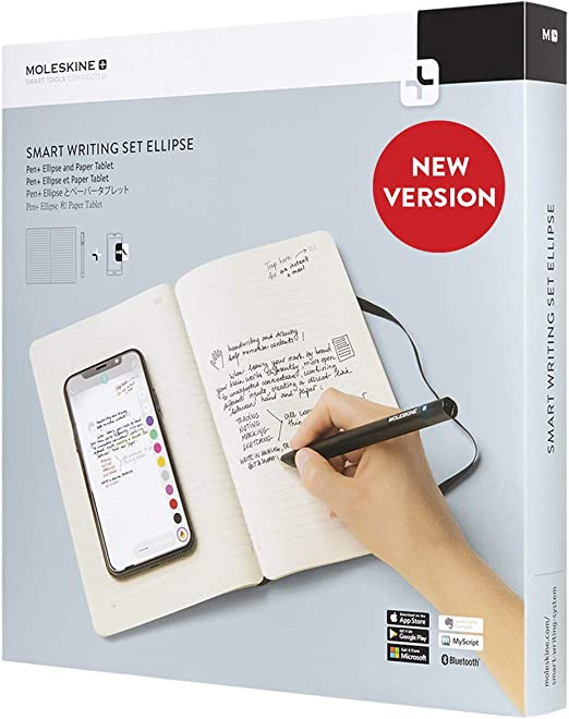 Moleskine Pen Ellipse Smart Writing Set Pen Ruled Smart Notebook Use With Moleskine Notes App For Digitally Storing Notes Only Compatible With Moleskine Smart Notebooks Amazon Ca Computers Tablets
