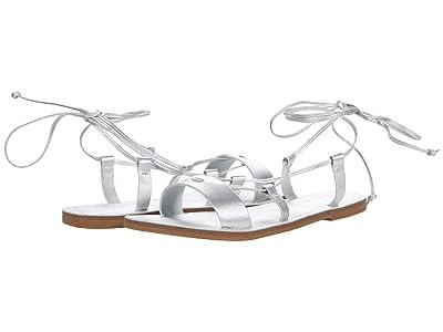 Madewell Boardwalk Ruby Lace-Up Sandal in Metallic