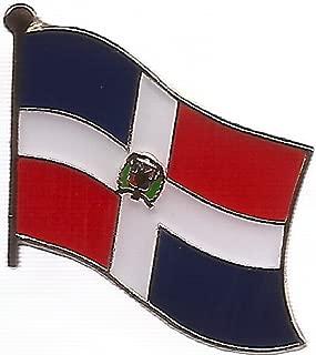 Box of 12 Dominican Republic Single Flag Lapel Pins, Dominican Single Flag Pin Badges