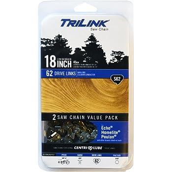 "Trilink Saw Chain CL15062X2TL2 18"" Twin Pack S62"