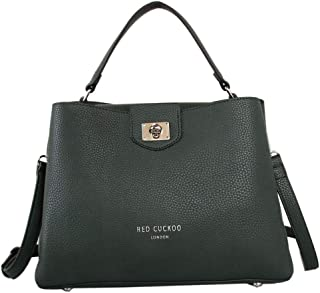 e2156fb286221 Womens Tote Shoulder Shopper Handbag Bag Red Cuckoo