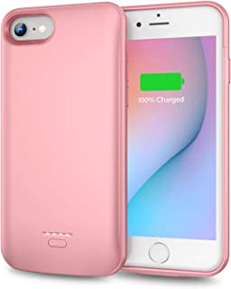 Swaller Battery Case for iPhone 6 Plus 6s Plus, Slim 5500mAh Portable Charger Case Extend 150% Battery Life, Protective Backup Charging Case Compatible with iPhone 6 Plus 6s Plus (5.5 inch)-Rose Gold