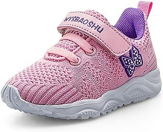 Basket Bébé Fille Chaussure de Course Fille Sports Running Fitness Enfant Sneakers Respirant pour Fille