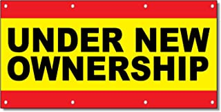 Under New Ownership Business 13 Oz Vinyl Banner Sign with Grommets 3 Ft X 6 Ft