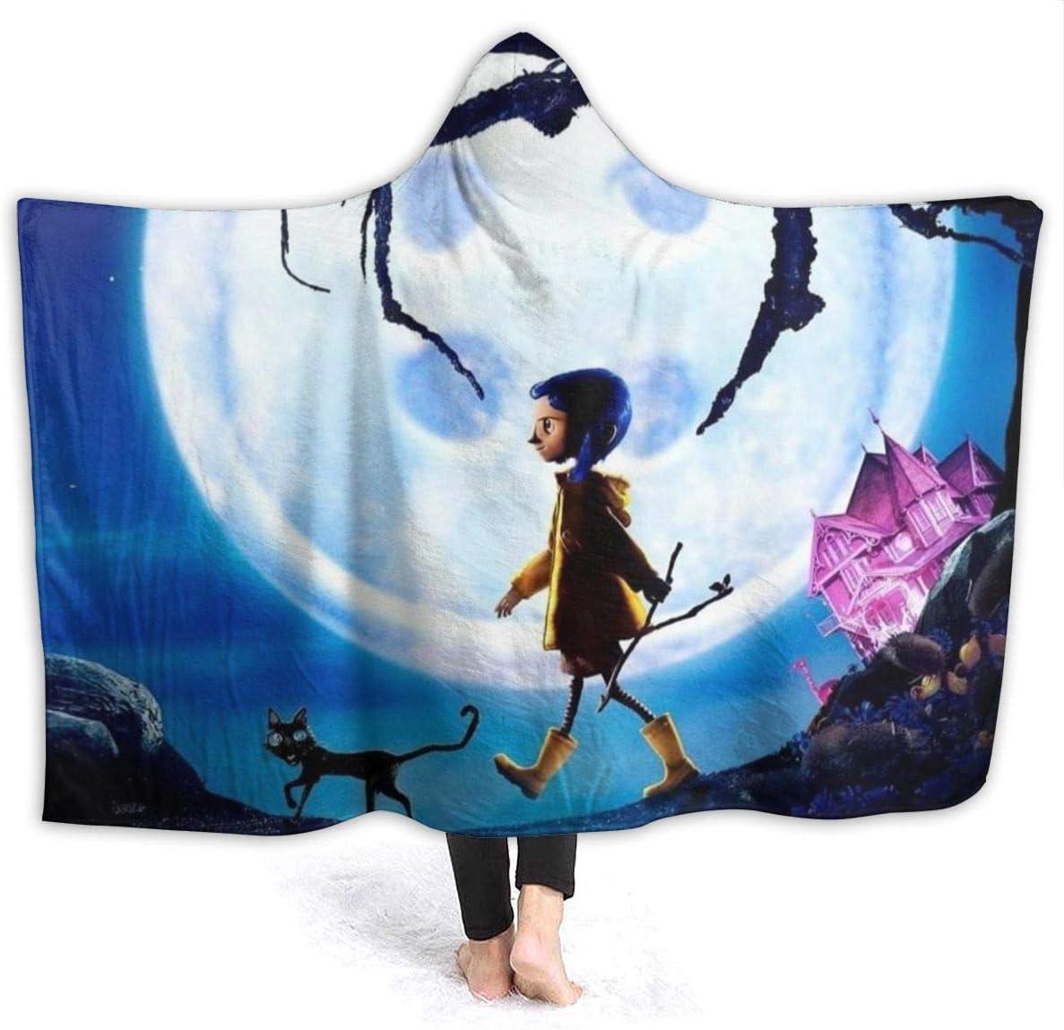 Coraline It is very popular Hooded Blanket for Classic Fleece Wearable Throw Adult
