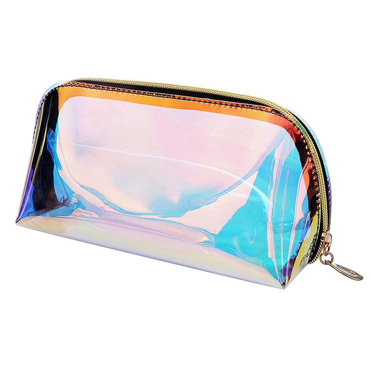 日付政府最も早いBesttoyコスメティックバッグ、ホログラフィックカラー透明収納バッグ、大容量、コスメティックバッグ、防水および防塵、鉛筆ケース、サングラス収納ボックスまたは財布、軽くて持ち運びに便利