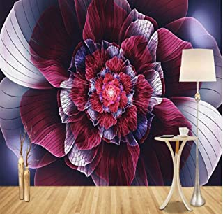 Papel pintado 3D Techo Art Print Mural Poster Design Abstract Floral Curve Modern Home Decor Wall Sticker Removable Diy Office