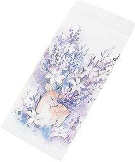 30pcs Purple Elk Invitation Envelopes Stationery Artistic Greetings Cards for Wedding, Birthday, Baby Shower
