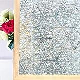 HUANGRONG Película de privacidad para ventana de 200 cm 3D de cristal decorativo autoadhesivo adhesivo para vidrieras de baño y vidrio tintado anti UV (color: 45 x 100 cm)