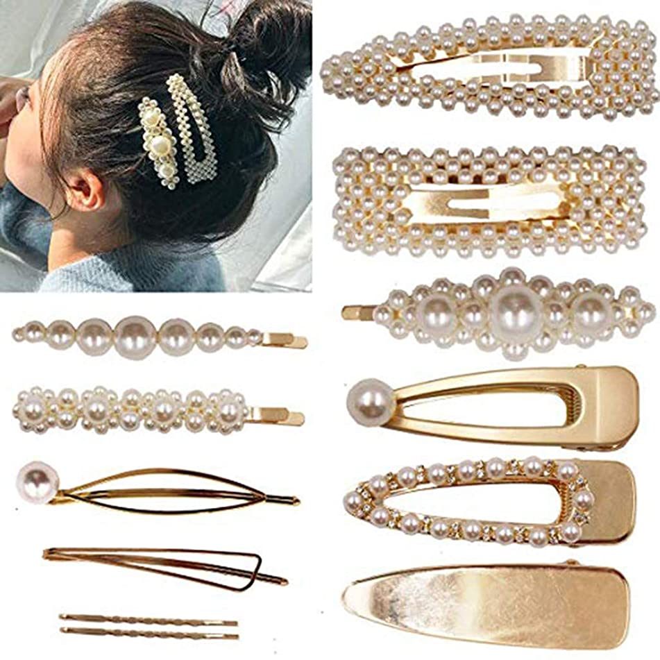 OutTop(TM) 12PCS Pearls Hair Clips for Women Girls Cute Pearl Bead Diamond Barrette Hairpin Hair Accessories Gift