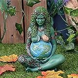 Estatua de la diosa de la madre tierra Figura de poliresina, bronce de la madre tierra, pequeña esta...