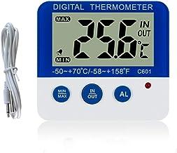 DyNamic Hogar Termómetros Digitales Para Interiores Y Exteriores Refrigerador Para El Hogar Termómetro Electrónico Para Mascotas Alarma De Heladas